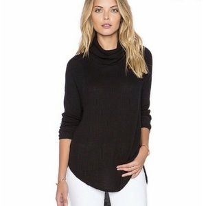 Free People Drippy Thermal Tunic Sweater Black M